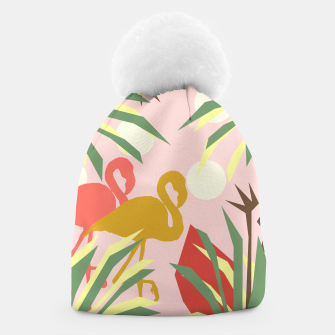 Thumbnail image of Flamingo jungle pink Beanie, Live Heroes