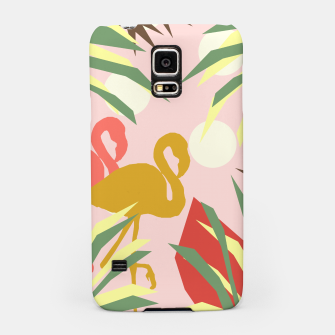 Thumbnail image of Flamingo jungle pink Samsung Case, Live Heroes