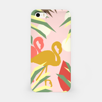 Thumbnail image of Flamingo jungle pink iPhone Case, Live Heroes