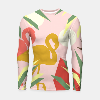 Thumbnail image of Flamingo jungle pink Longsleeve rashguard , Live Heroes