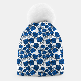 Thumbnail image of Blue Roses Beanie, Live Heroes