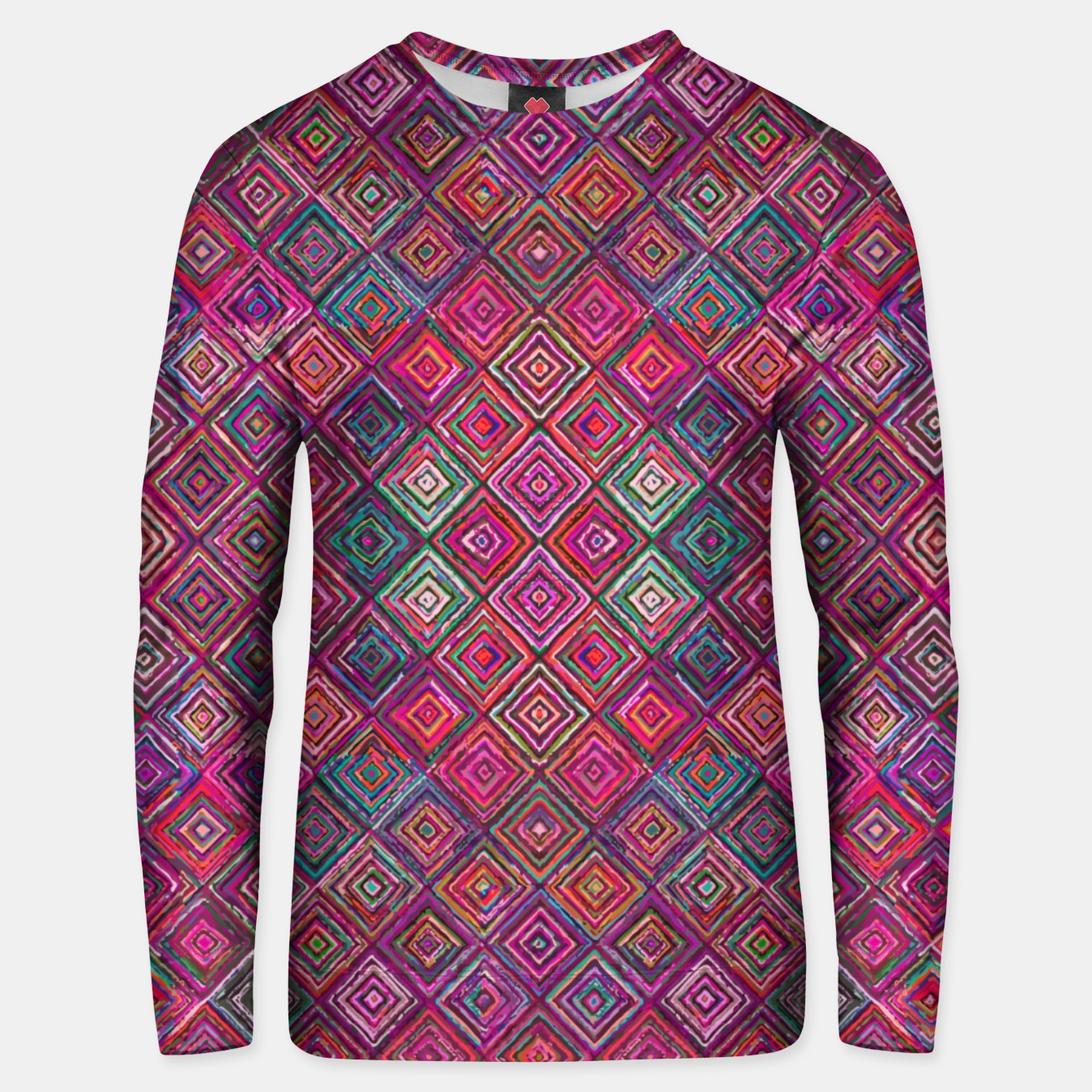 Image of Pink Traditional Bohemian Oriental Moroccan Design Unisex sweater - Live Heroes