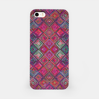 Miniatur Pink Traditional Bohemian Oriental Moroccan Design iPhone Case, Live Heroes