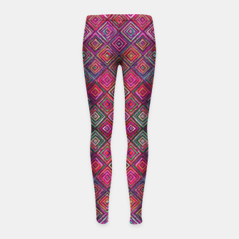 Thumbnail image of Pink Traditional Bohemian Oriental Moroccan Design Girl's leggings, Live Heroes