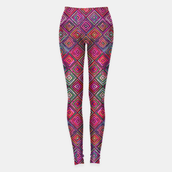 Thumbnail image of Pink Traditional Bohemian Oriental Moroccan Design Leggings, Live Heroes