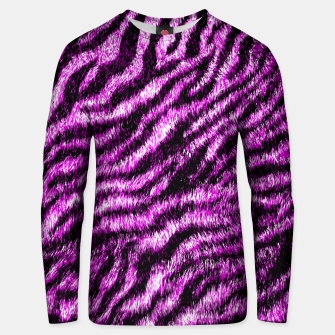 Bengal Tiger Fur Wildlife Print Pattern PINK Unisex sweater thumbnail image