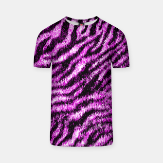 Thumbnail image of Bengal Tiger Fur Wildlife Print Pattern PINK T-shirt, Live Heroes