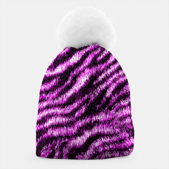 Thumbnail image of Bengal Tiger Fur Wildlife Print Pattern PINK Beanie, Live Heroes