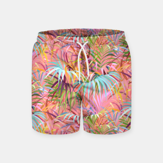 Tropical mood on a strawberry pink sunset Swim Shorts Bild der Miniatur