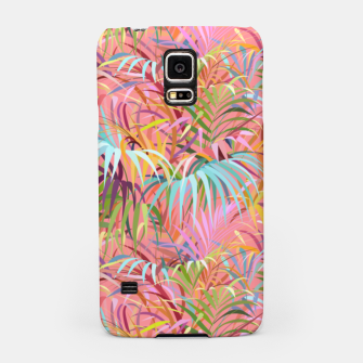 Tropical mood on a strawberry pink sunset Samsung Case Bild der Miniatur