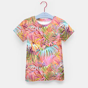 Miniatur Tropical mood on a strawberry pink sunset Kid's t-shirt, Live Heroes