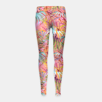 Miniatur Tropical mood on a strawberry pink sunset Girl's leggings, Live Heroes