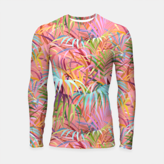 Tropical mood on a strawberry pink sunset Longsleeve rashguard  Bild der Miniatur