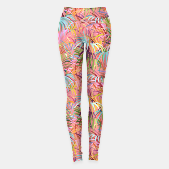 Miniatur Tropical mood on a strawberry pink sunset Leggings, Live Heroes