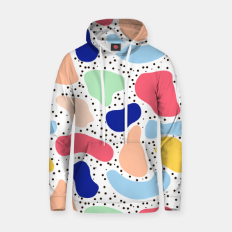 Thumbnail image of Splash abstract cartoon background children design element, overlay colorful spotty pattern geometric shape, dot trendy Memphis style Hoodie, Live Heroes