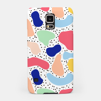 Miniatur Splash abstract cartoon background children design element, overlay colorful spotty pattern geometric shape, dot trendy Memphis style Samsung Case, Live Heroes