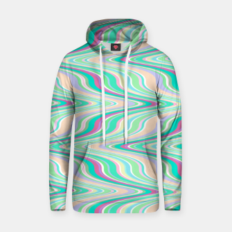 Seafoam green blue infinite ikat pattern, magical old style wavy chevron Hoodie thumbnail image