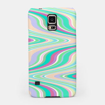 Miniaturka Seafoam green blue infinite ikat pattern, magical old style wavy chevron Samsung Case, Live Heroes