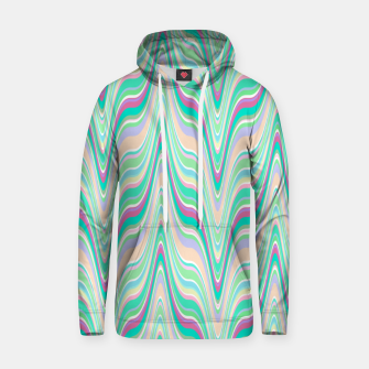 Thumbnail image of Seafoam green blue infinite ikat pattern, magical old style wavy chevron Hoodie, Live Heroes