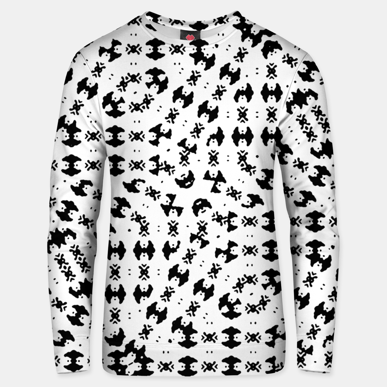 Image of Black and White Ethnic Print Unisex sweater - Live Heroes