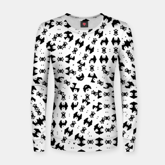 Black and White Ethnic Print Women sweater thumbnail image