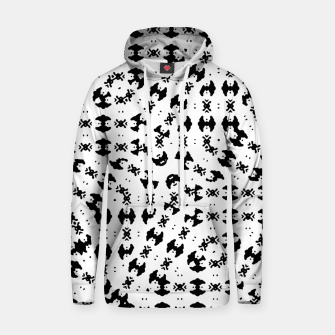 Miniatur Black and White Ethnic Print Hoodie, Live Heroes