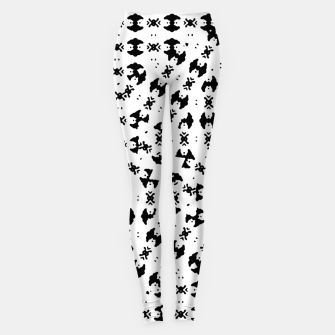 Miniatur Black and White Ethnic Print Leggings, Live Heroes