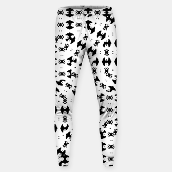 Miniatur Black and White Ethnic Print Sweatpants, Live Heroes