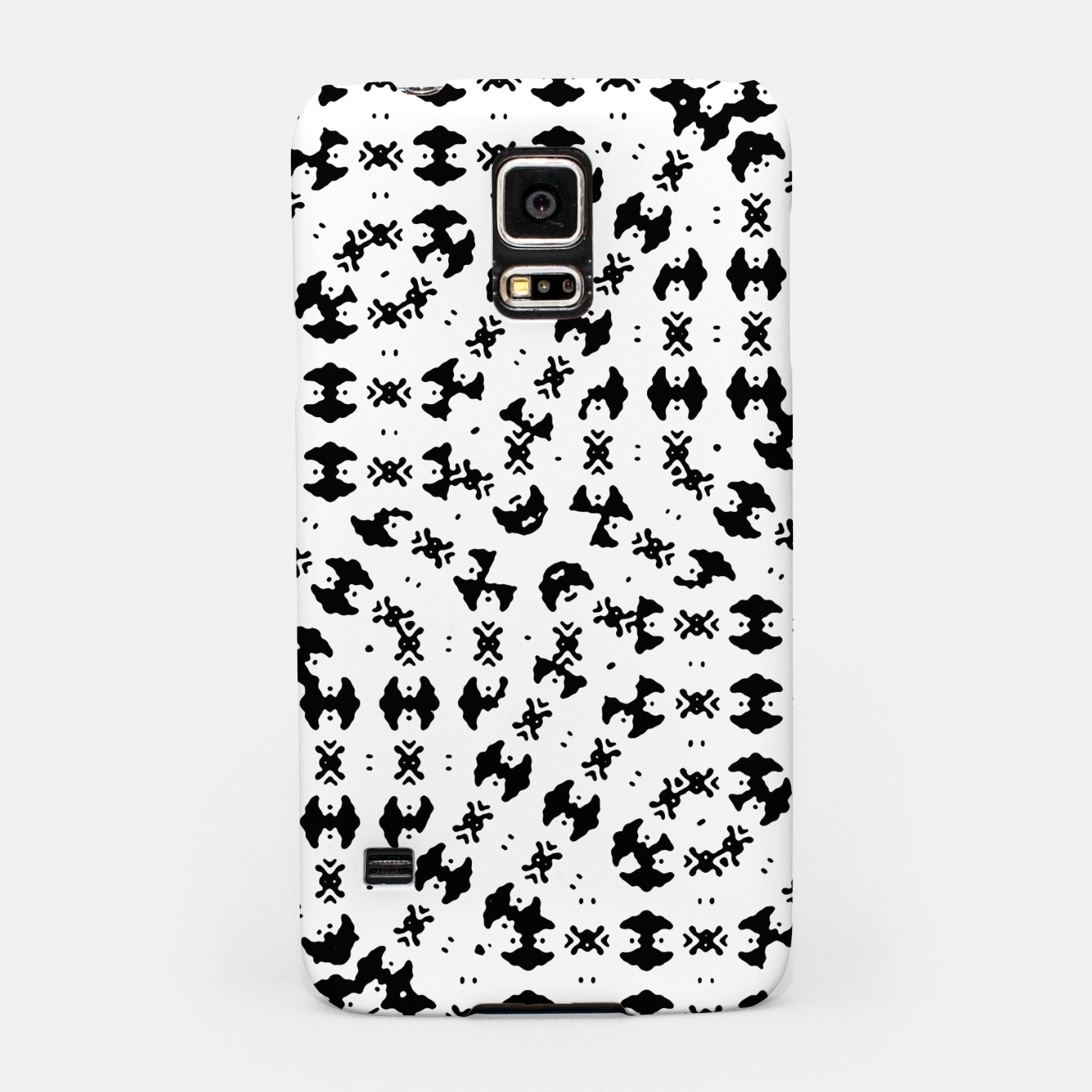 Zdjęcie Black and White Ethnic Print Samsung Case - Live Heroes