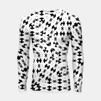 Black and White Ethnic Print Longsleeve rashguard  thumbnail image