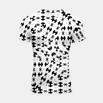 Black and White Ethnic Print Shortsleeve rashguard thumbnail image