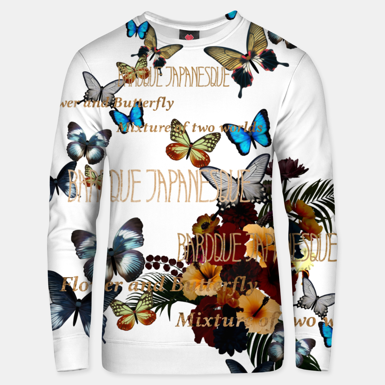 Image of Flower and Butterfly Unisex sweater - Live Heroes