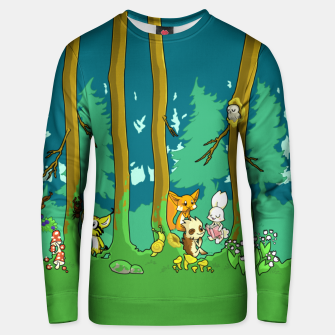 Deep Inside the Forest Unisex sweater miniature