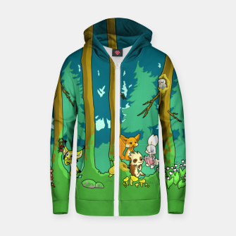 Deep Inside the Forest Zip up hoodie miniature