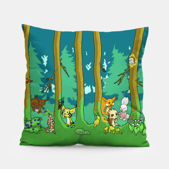 Deep Inside the Forest Pillow miniature