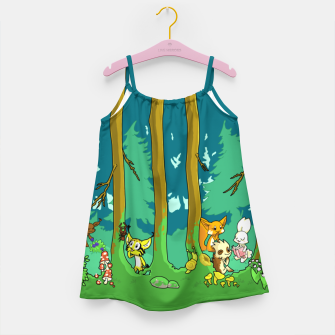 Deep Inside the Forest Girl's dress miniature