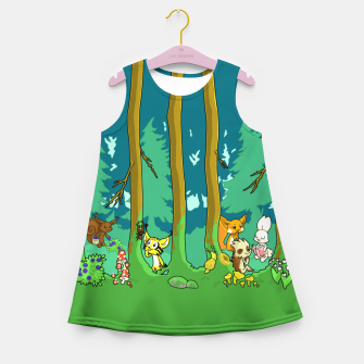 Deep Inside the Forest Girl's summer dress miniature