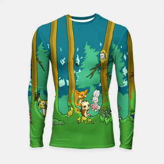 Deep Inside the Forest Longsleeve rashguard  miniature