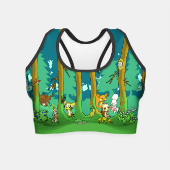 Deep Inside the Forest Crop Top miniature