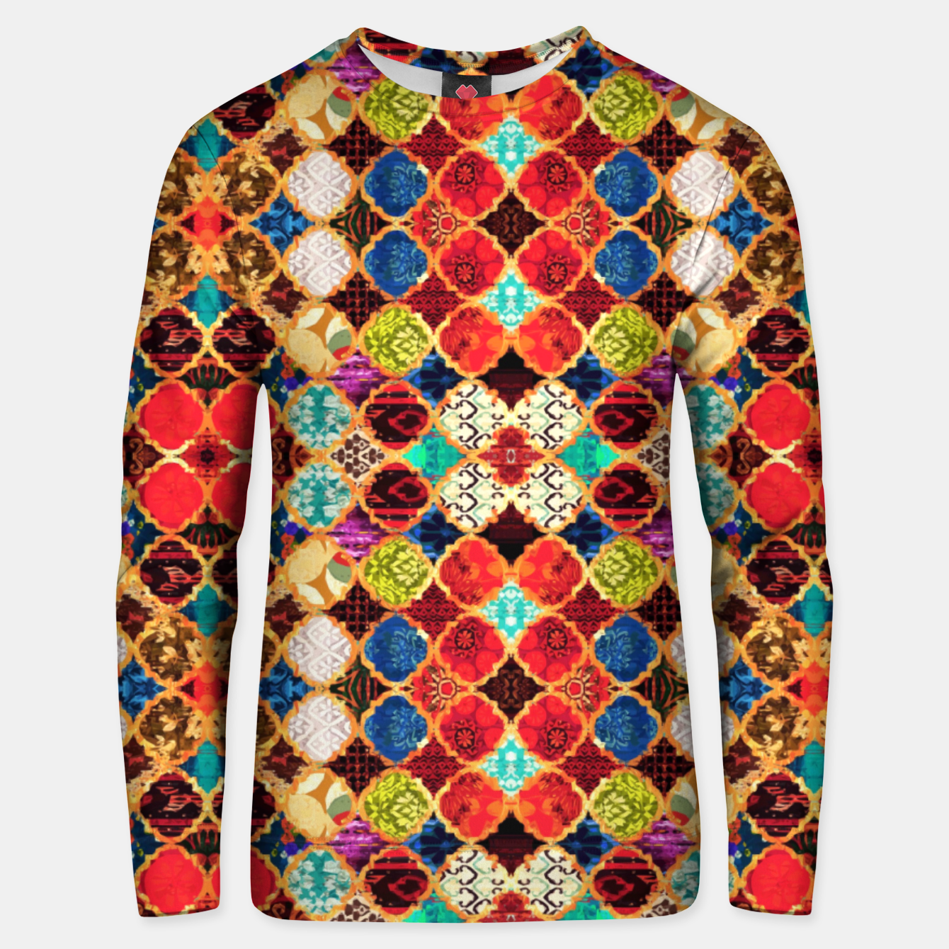 Image of HQ Traditional Heritage Islamic Moroccan Tiles Styles Design Unisex sweater - Live Heroes