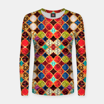 Miniatur HQ Traditional Heritage Islamic Moroccan Tiles Styles Design Women sweater, Live Heroes