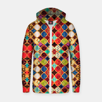 HQ Traditional Heritage Islamic Moroccan Tiles Styles Design Zip up hoodie thumbnail image