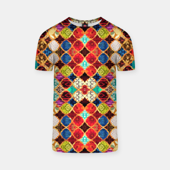 HQ Traditional Heritage Islamic Moroccan Tiles Styles Design T-shirt thumbnail image