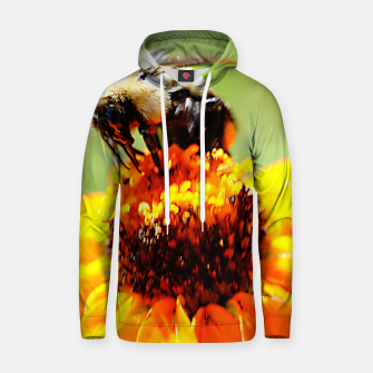 Bee On A Flower Hoodie thumbnail image