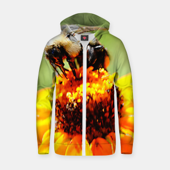Bee On A Flower Zip up hoodie thumbnail image