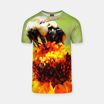 Bee On A Flower T-shirt thumbnail image