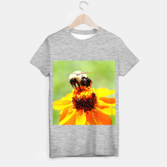 Bee On A Flower T-shirt regular thumbnail image