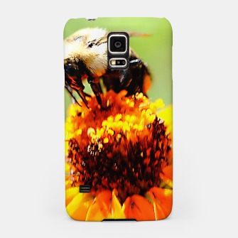Bee On A Flower Samsung Case thumbnail image