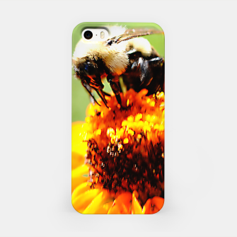 Bee On A Flower iPhone Case thumbnail image