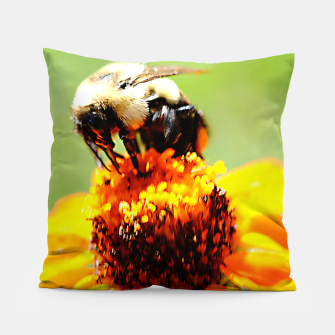 Bee On A Flower Pillow thumbnail image
